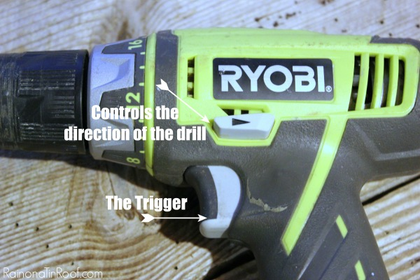 How to Use a Power Drill - Trigger and Controlling Direction of Drill - Rain on a Tin Roof