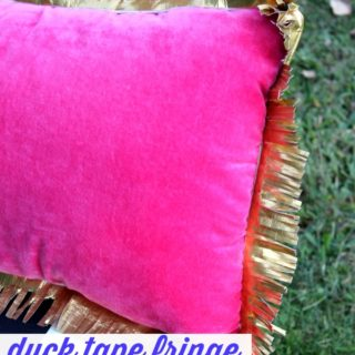 Seriously?! DUCK TAPE FRINGE! And its easy to make! Duck Tape Fringe Pillow: Dress Up Boring Pillows on the Cheap via RainonaTinRoof.com