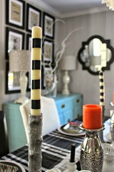Electrical Tape Crafts: Electrical Tape Wrapped Candles