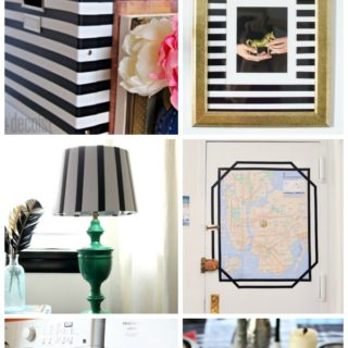 AMAZING IDEAS! And electrical tape is SO cheap! SCORE! 7 Super Simple, Super Cute Electrical Tape Crafts