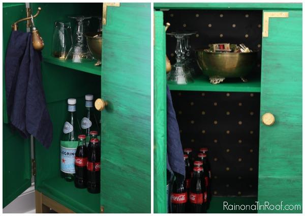 IKEA Tarva Hack: Turn It Into a Drink Bar via RainonaTinRoof.com