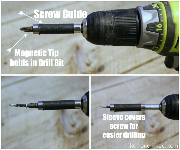 Using a Sleeve Cover in a Power Drill - Rain on a Tin Roof