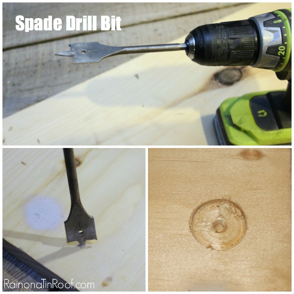 How to Use a Spade Drill Bit with a Power Drill - Rain on a Tin Roof