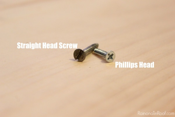 How to Attach Screws with a Drill - Types of Screws - Rain on a Tin Roof
