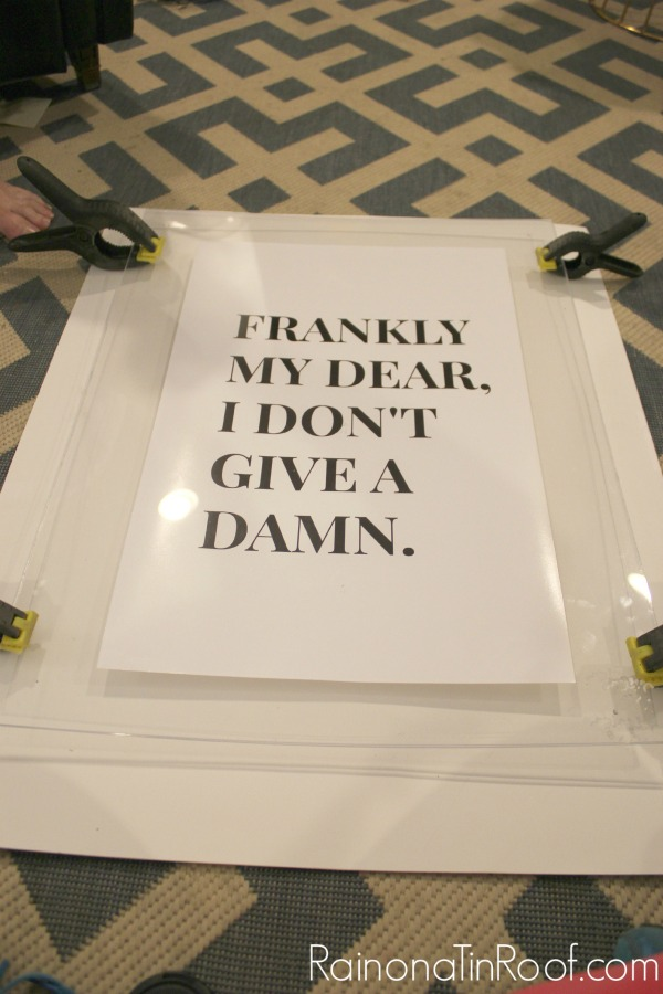 AWESOME idea to really showcase the art - super affordable too! DIY Lucite Frame + Gone With the Wind Printable via RainonaTinRoof.com