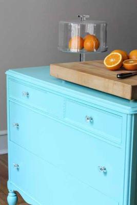 diy kitchen island ideas - island made from a dresser