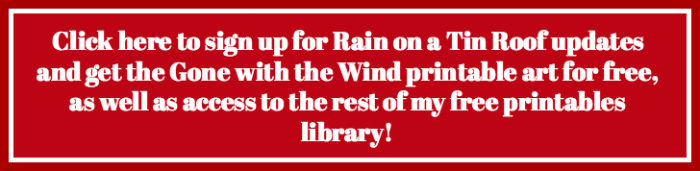 Free Gone with the Wind Printable