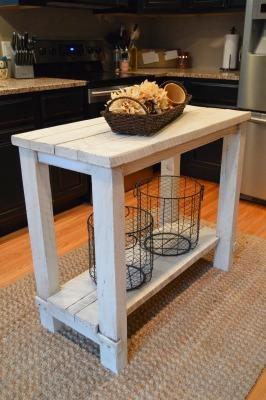 Small diy kitchen island build