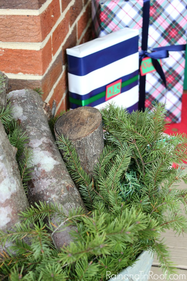 Easy and budget friendly ideas that anyone can do! Red, Green & Navy Christmas Home Tour with simple ideas... via RainonaTinRoof.com