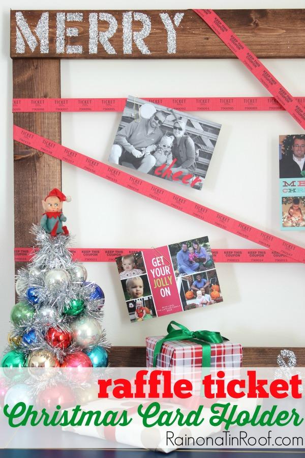 Raffle Ticket Christmas Card Holder A Fun Spin