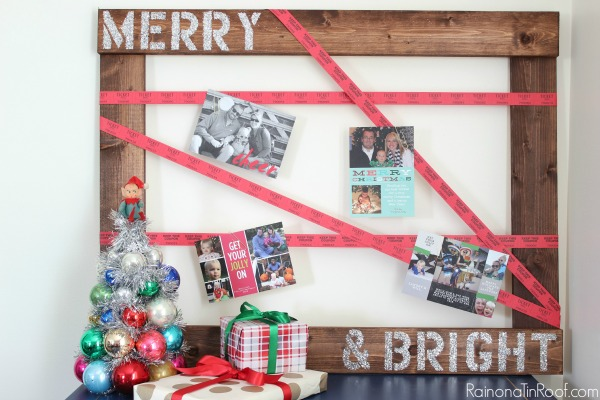 Raffle Tickets!! Fun twist on your normal Christmas decor! Raffle Ticket Christmas Card Holder via RainonaTinRoof.com