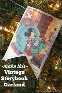 So sweet and simple to make! Vintage Storybook Garland via RainonaTinRoof.com