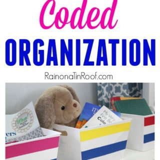 This is such an easy organizing idea and it holds family members accountable for their mess! Color Coded Organization