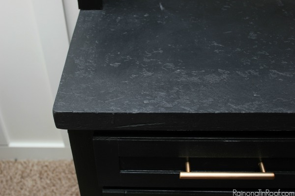 Faux Stone Countertops. Man Cave Makeover: The Built-Ins