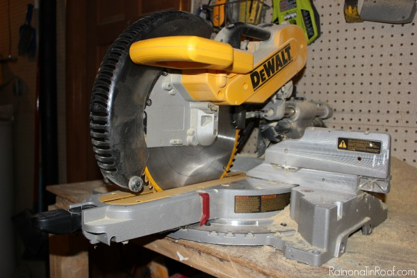 What Is a Miter Saw Used For - Power Miter Saw - Rain on a Tin Roof