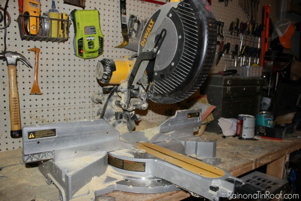 Blade Up on Miter Saw - Rain on a Tin Roof