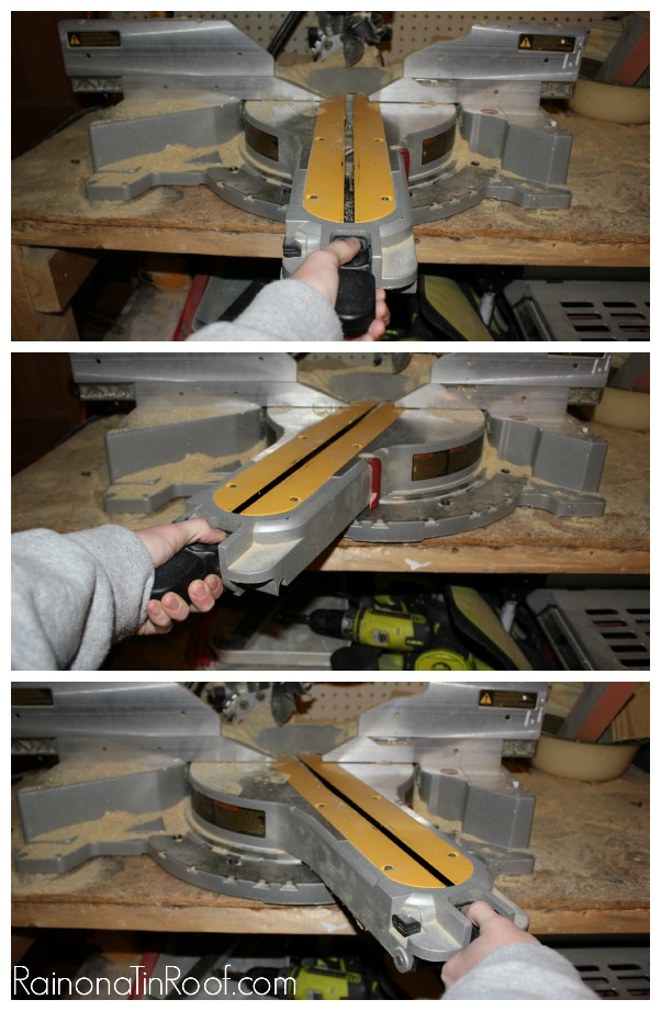 Using a Miter Saw - Adjusting the Angle - Rain on a Tin Roof