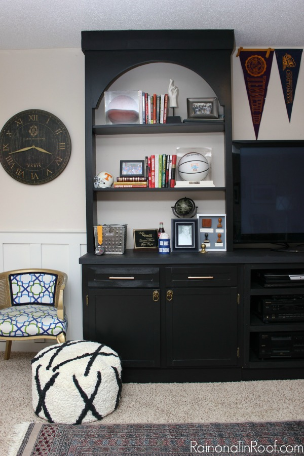 Wow! Big change - love the black on black. Man Cave Makeover: The Built-Ins