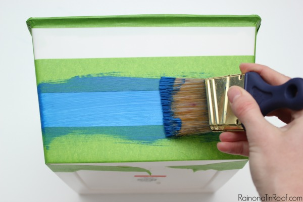 This paint works on just about any surface! No priming needed on plastic - just brush it on!