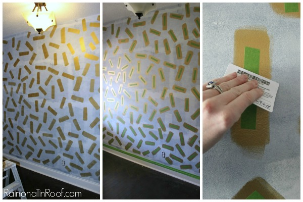 Easy Confetti Accent Wall
