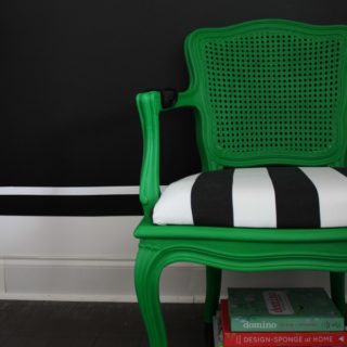 OMG. I'm in love. French Country Chair Modern Makeover