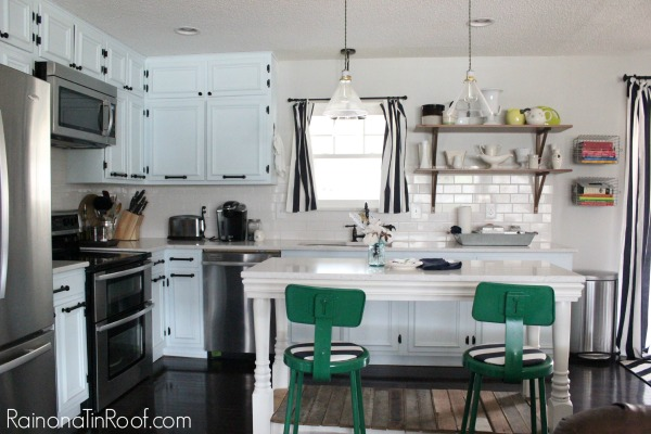 Instead of having all upper cabinets, opt for some open shelving. 10+ Kitchen Ideas: Decorating, Organizing, Storage