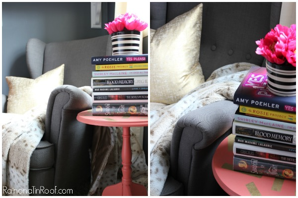 Stacks of books for decorating: Spring Home Tour
