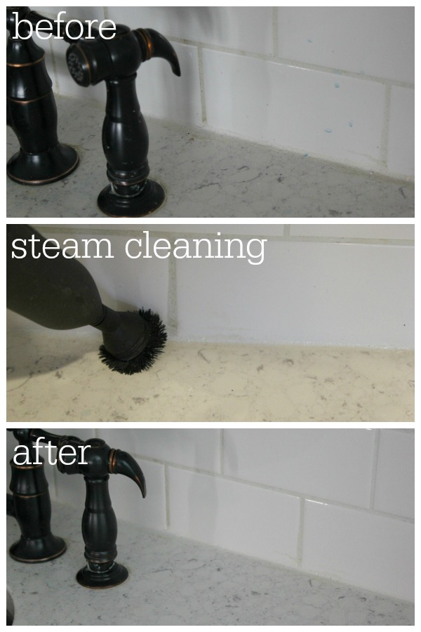 Steam Cleaned Grout