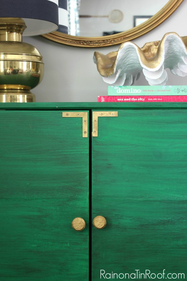 Aged Green and Brass Cabinet Makeover: 11 Colorful Furniture Makeovers