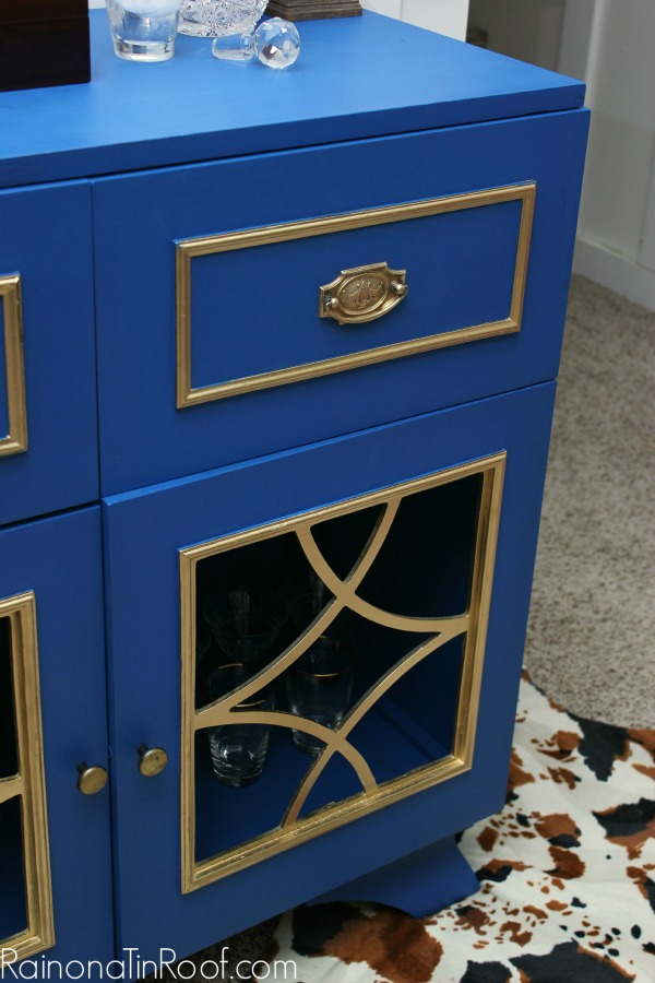 Bold Blue Cabinet Makeover: 11 Colorful Furniture Makeovers