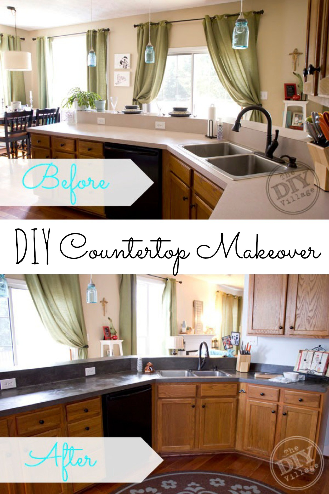 Kitchen Countertop Makeover