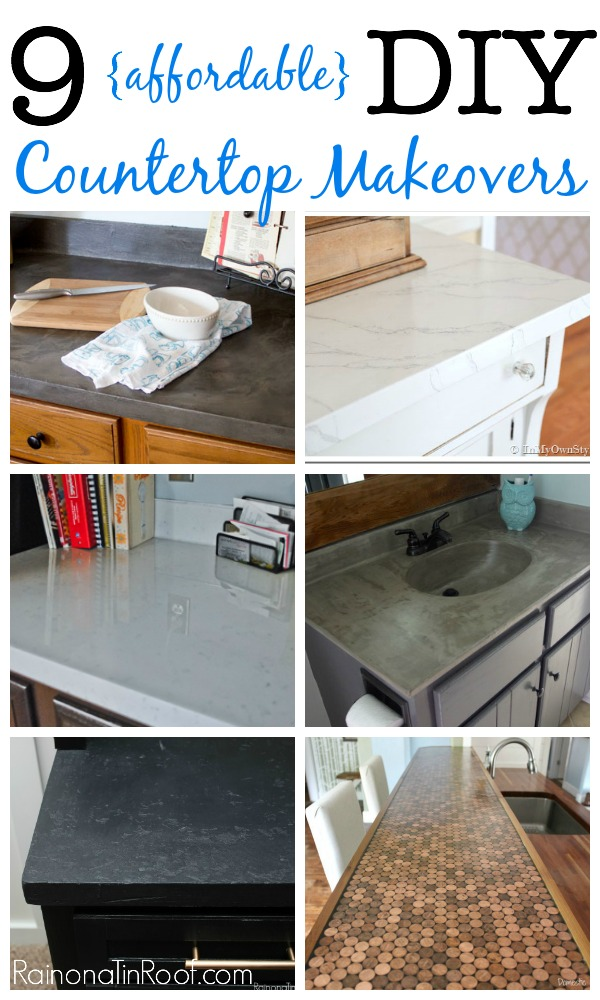 Yes, please! Great DIY countertop makeovers that are doable and affordable!