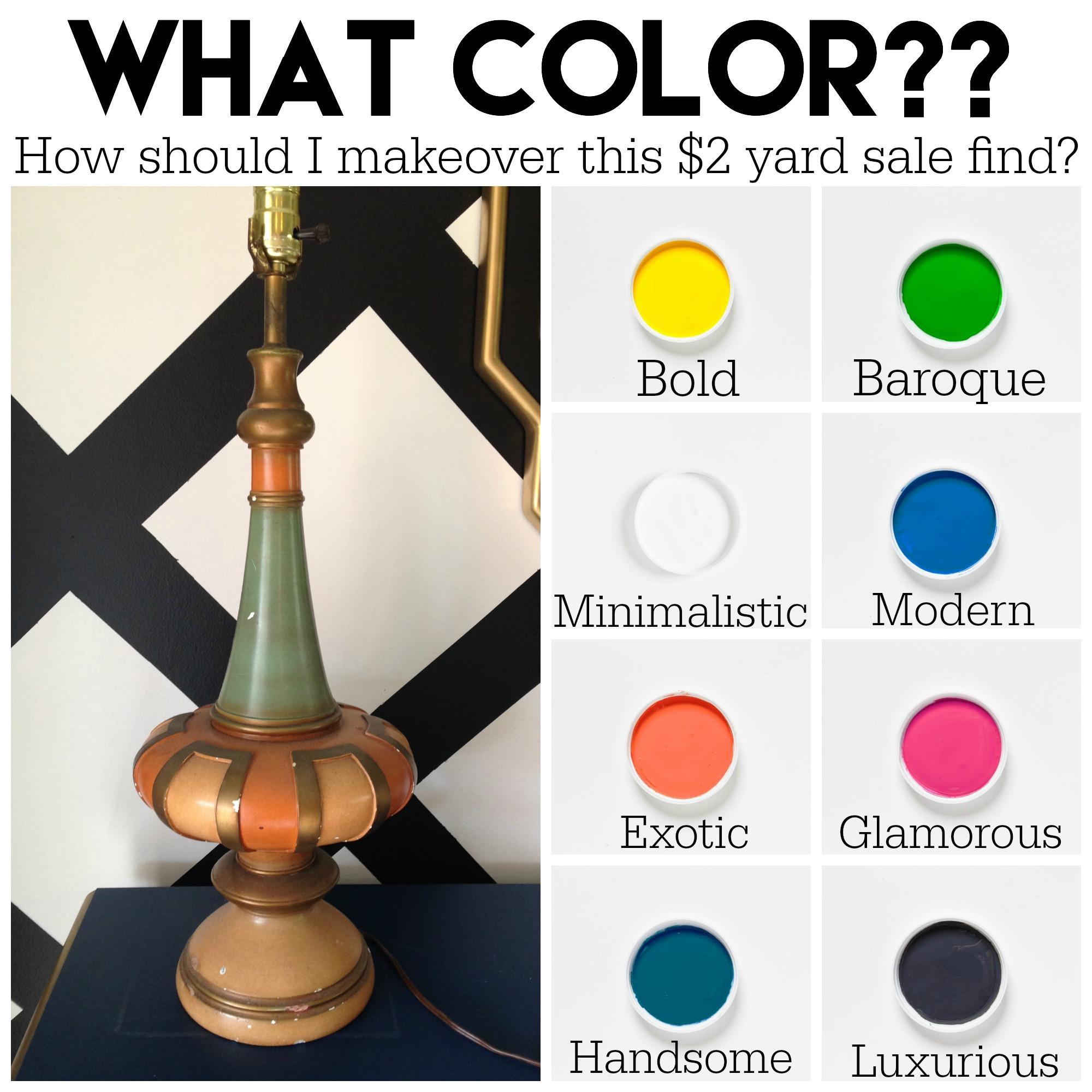 Mid-Century Modern Lamp Makeover with Velvet Finishes