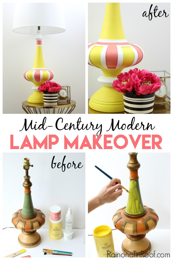 Lamp Makeover Ideas   Painted Lamp Makeover Ideas   DIY Lamp Makeover   How to Paint a Lamp   Lamp Makeover DIY