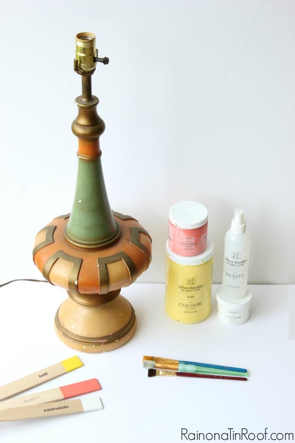 Velvet Finishes Paint Lamp Makeover