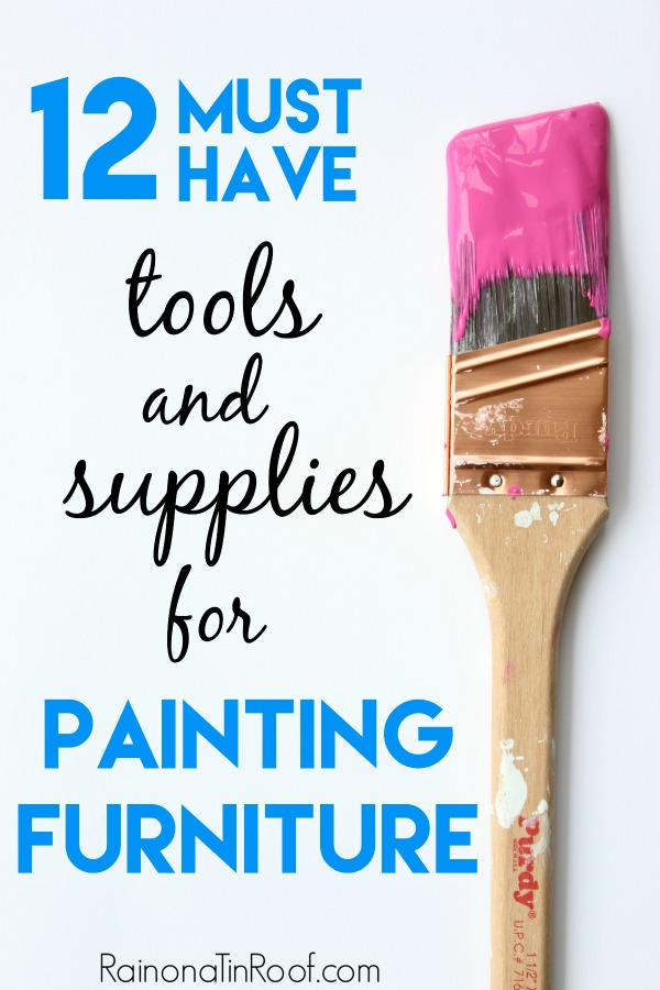 Best Painting Tools List for Furniture Refinishing