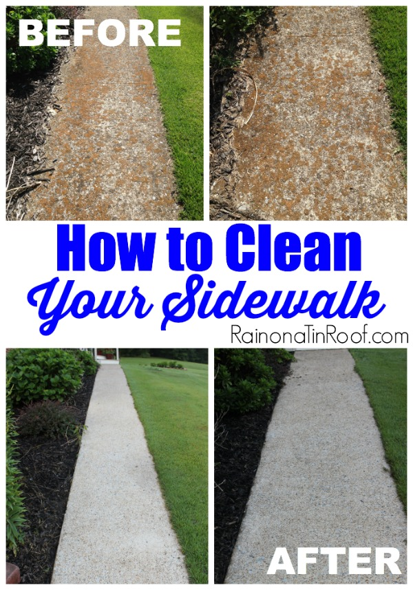 Isn't that difference crazy?! How to Clean A Sidewalk. 9 MUST READ Cleaning Tips!