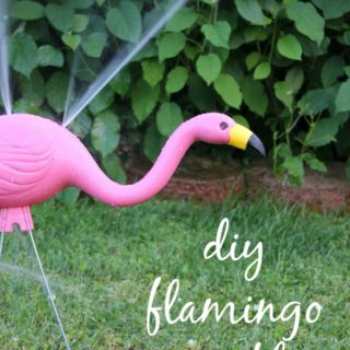 This is so fun and quirky! Super affordable too! DIY Flamingo Sprinkler