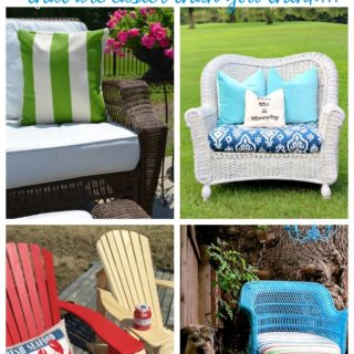 They used a paint sprayer to paint outdoor cushions, wicker furniture, metal furniture and more!!! Outdoor Furniture Makeovers that are easier than you think!