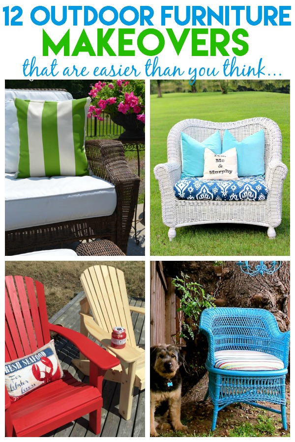Outdoor Furniture Makeovers | Outdoor Furniture DIY | Outdoor Furniture Ideas | How to Paint Outdoor Furniture