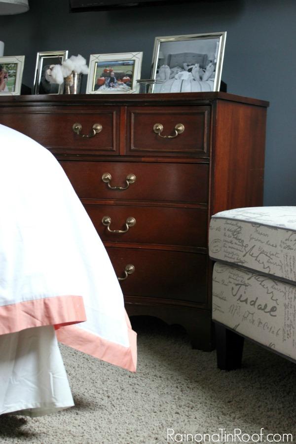 Use Rub 'N Buff to update furniture hardware and still keep a true metallic look.
