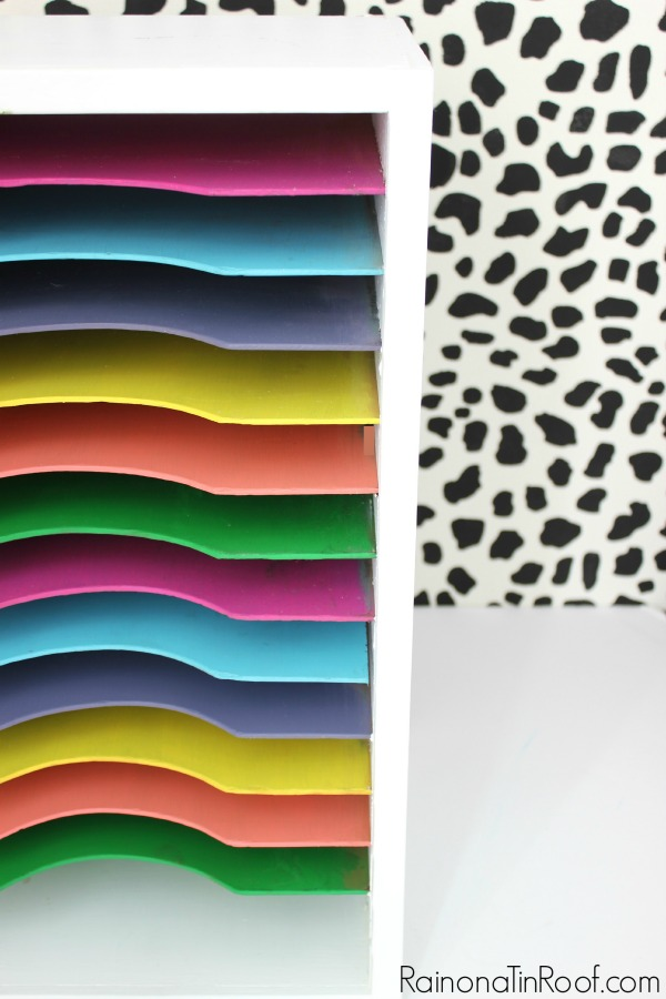 Oh my! Those colors! Can't believe how well they all work together! Vintage Paper Sorter Makeover