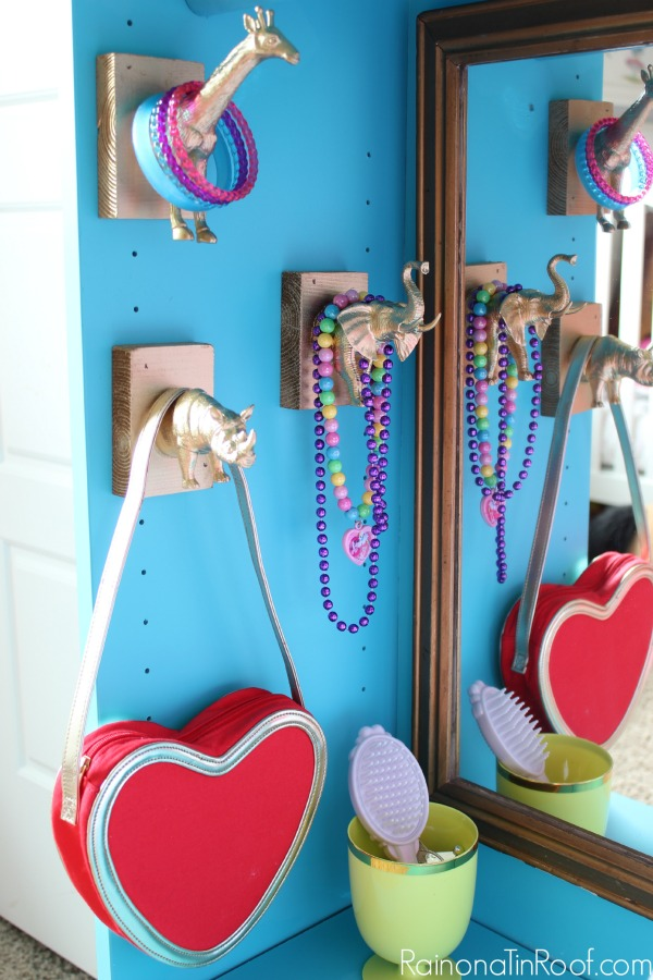 Dress Up Storage IKEA Bookcase - jewelry holders - Rain on a Tin Roof