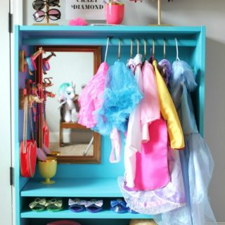 Dress Up Closet from IKEA Bookcase - Rain on a Tin Roof