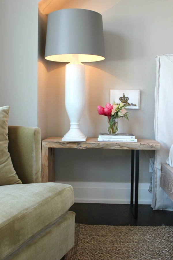 Opt for the really tall lamp.