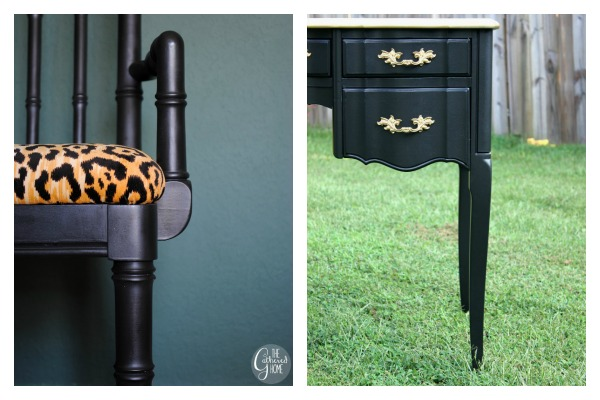 Bold and Beautiful Furniture Makeovers: Black Furniture Makeovers / Black and Gold / Black and Leopard Print