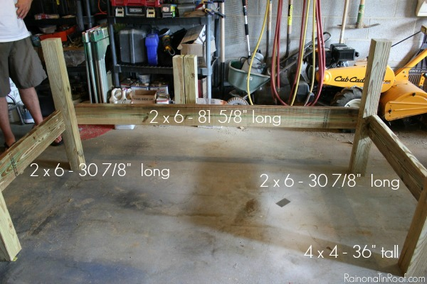 DIY Outdoor Daybed - Assembly