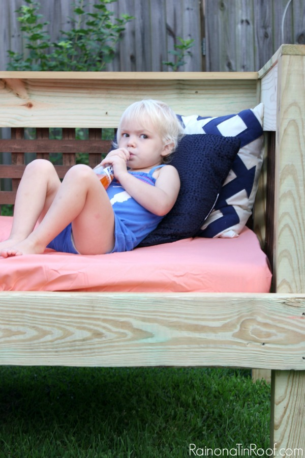 DIY Day Bed for Outside
