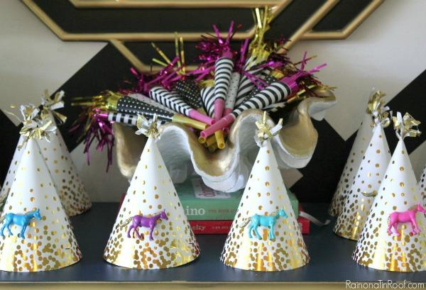 Horse Birthday Party / DIY Party Decor / DIY Party Hats