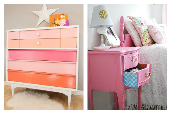 Bold and Beautiful Furniture Makeovers: Pastel Furniture Makeovers / Pink Furniture Makeovers
